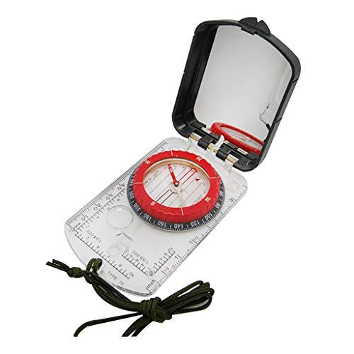 MYhose Mini Brújula Resistente Plástico Buceo Brújula Reloj Impermeable Tamaño de Bolsillo Al Aire Libre Camping Senderismo Equipo Portátil Aventura Supervivencia Accesorio Negro