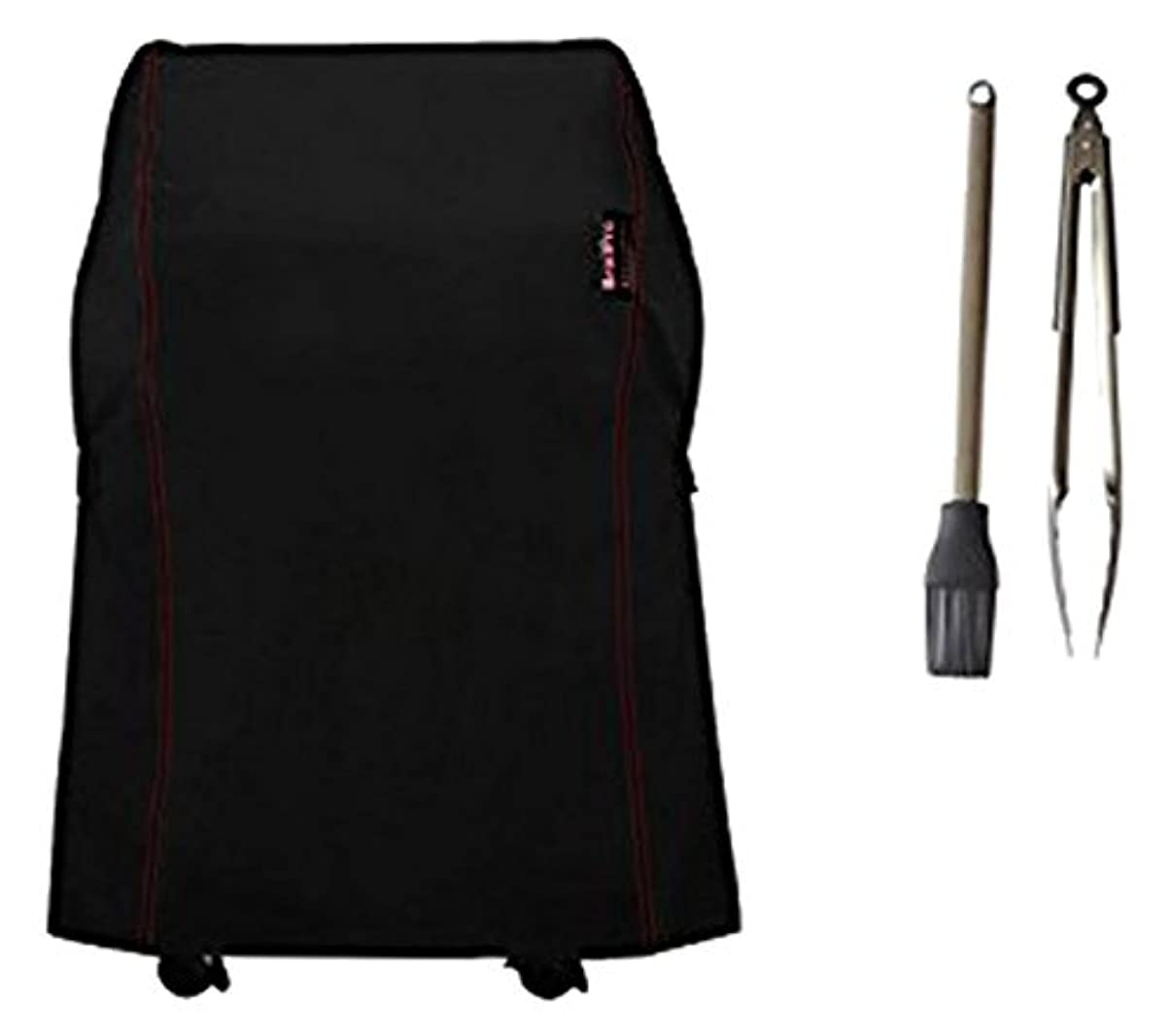BroilPro Accessories BPA3 Heavy Duty Grill Cover for Weber Spirit 210 Series Gas Grills (Compared To Weber 7105) Including Basting Brush and Tongs