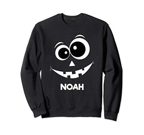 Noah Pumpkin Silhouette fun Halloween Idea Kids Sweatshirt