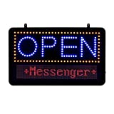 Alpine Industries LED Open Progammable Sign - Outdoor Advertising Board w/Remote Controlled 3 Mode Electric Display: Flashing, Steady, Scrolling for Business