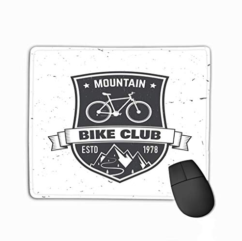 Standaard formaat Anti-slip Rubber Mousepad Mountain Bike Club Mountainbike Club concep Logo Print Stamp tee Vintage Lifelike