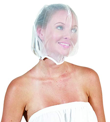 Betty Dain Makeup Protector Hood, Protects Hair and Make Up While Getting Dressed, Nylon Chiffon, Light and Airy, Triple Protection, Zipper closure, Machine Washable, White