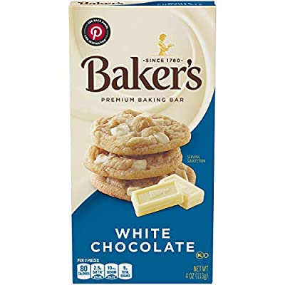 Baker's Premium White Chocolate Baking Bar (4 oz Boxes, Pack of 12)