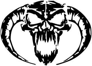 Evil Demon Skull - Sticker Graphic - Auto, Wall, Laptop, Cell, Truck Sticker for Windows, Cars, Trucks