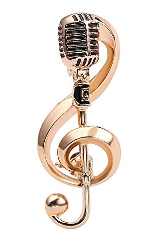 Generische Brosche aus vergoldetem Stahl und Mikrofon.