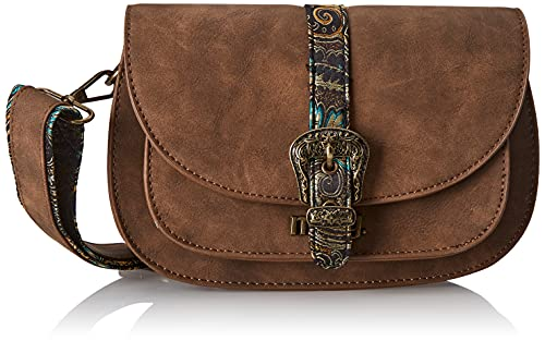 MTNG Bolso Cycle C52203 Marron Oscuro Mujer, Hila Cuero/Pasley Multicolor, One Size