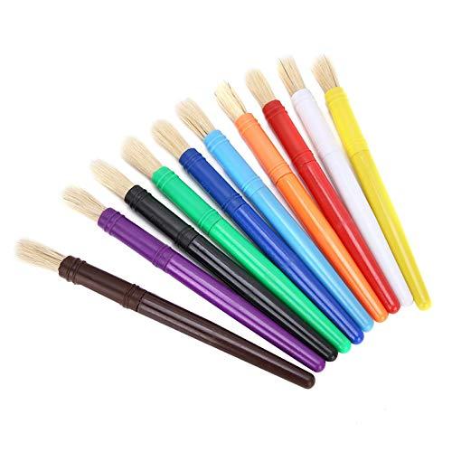 Pinceles plásticos del artista de Handel del color del caramelo para la pintura de acuarela(Round and flat)