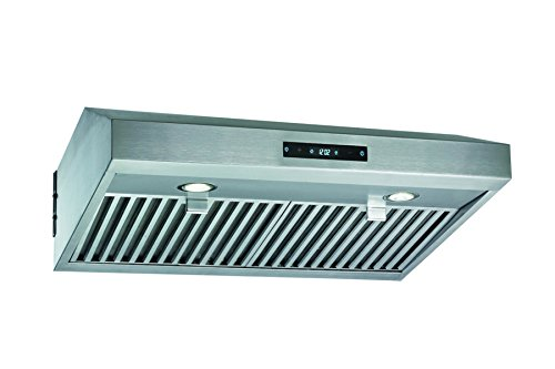 Blue Ocean 30' RH76TUC Euro Style Stainless Steel Under Cabinet Ultra-Quiet Range Hood | PRO PERFORMANCE | 6-Speed LED Display Touch Sensor Control
