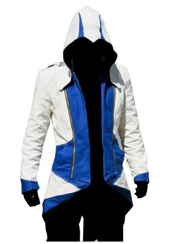 BuyChic Cosplay Costume Hoodie/Jacket/Coat-9 Options for The Fans, White and Blue, Men XL