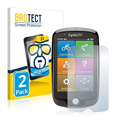 BROTECT Schutzfolie kompatibel mit Mio Cyclo 210 (2 Stück) klare Bildschirmschutz-Folie