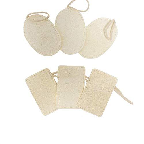 U&X Paquete de 6 esponjas naturales para lavar platos de cocina (forma rectangular y ovalada)