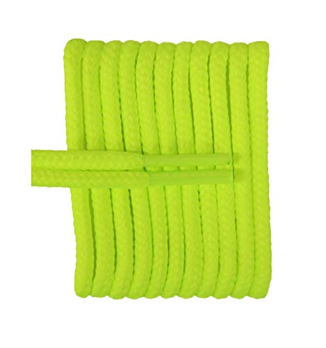 FeetPeople Round Laces, 45 in. x 1 Pair, Neon Yellow