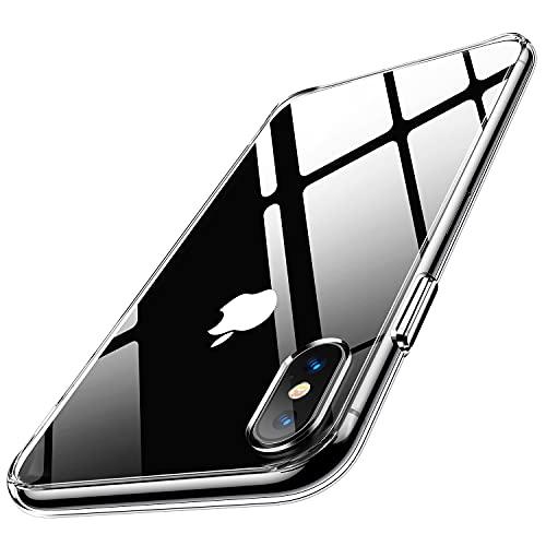 Humixx for iPhoneXs ケース iPhoneX ケース 型 9Hガラス背面+TPUバンパー 黄変防止 日本旭硝子製 クリア