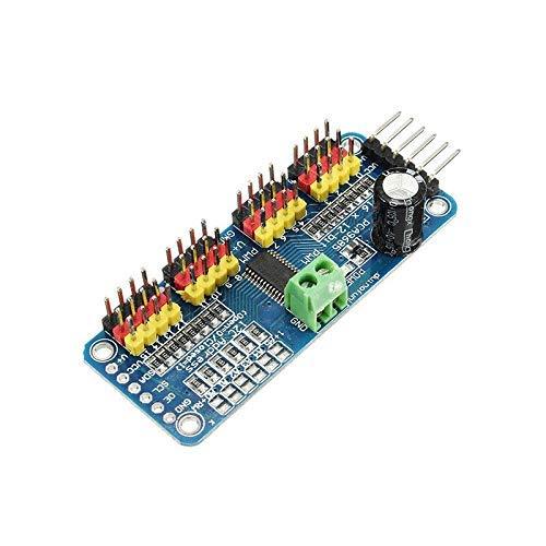 GzxLaY Hochwertiges 2PCS PCA9685 16-Kanal 16CH 12-Bit PWM-Servomotortreiber I2C-Modul für Arduino Robot RC Drone Quadcopter Ersatzteilzubehör (Farbe: 1PC) (Color : 2PC)