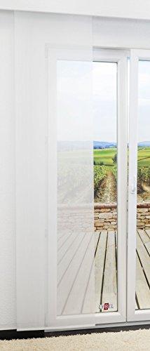 LYSEL Schiebegardine Pur Seamless transparent einfarbig in den Maßen 245 cm x 60 cm weiß/wollweiß