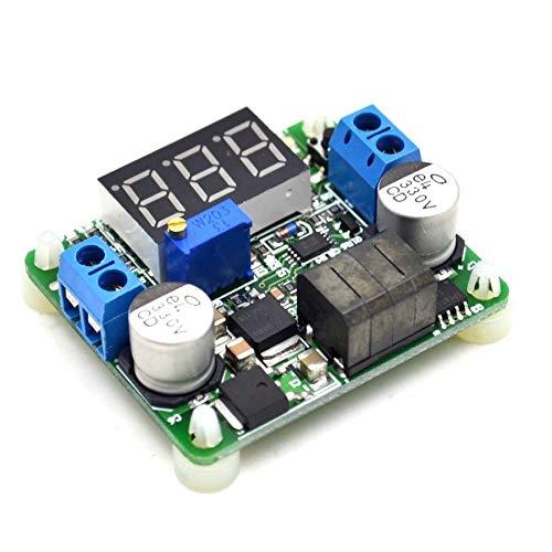 DC-DC Buck and Boost Voltage Converter Voltmeter Display LED Step Down and Up Power Supply 5-25V to 0.5V-25V Super LM2577