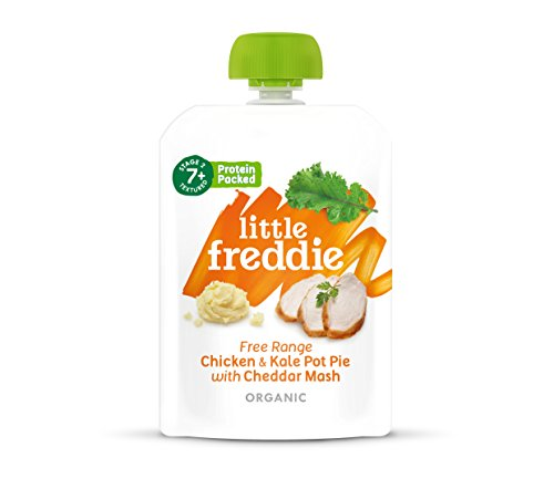 Little Freddie Organic Baby Food - Free Range Chicken & Kale Pot Pie with Cheddar Mash (Pack of 6x130g)