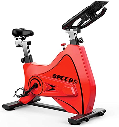 Bicicleta estática Interior Spinning Bicicleta Bicicleta Bicicleta Bicicleta Ejercicio Ultra silencioso Ejercicio Aererobico Manillar Asiento Ajustable Todo Incluido Diseño Rojo