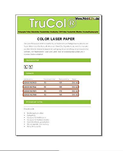 Print4Life 100 Blatt 175g m DIN A4 glanzendes Profi LaserFarblaser Fotopapier