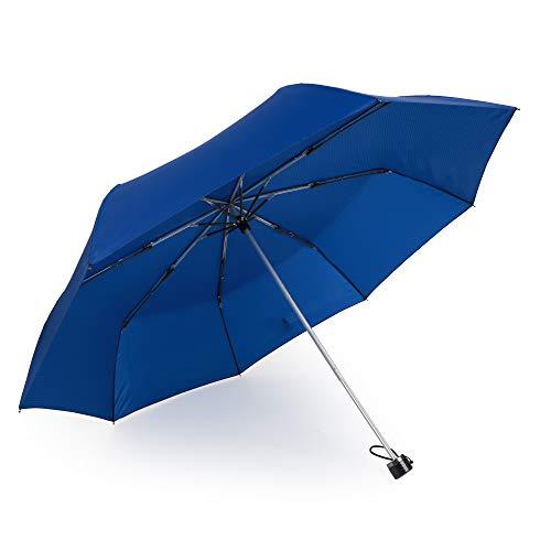 Kobold Windproof Travel Umbrella Lights Compact Mini 3 Fold Rain & Sun Protection Umbrellas for Women Gray