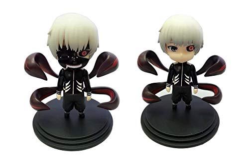 YXCC Tokyo Ghoul Q Version 2 Kaneki Ken Maskenversion und maskenlose Versionsfigur