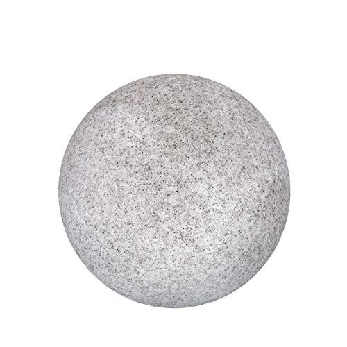Ldk Garden Gartenleuchte Granit grau 30 cm, Stein