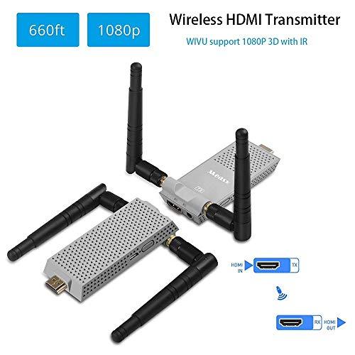 Measy Air Prime inalámbrica HDMI de grabación de emisor y receptor de apoyo transferir 200 m/660 Feet con IR de Return Atrás