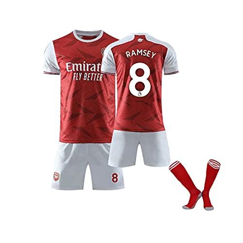 YYKY 20-21Arṡenȧl Òzil Heim- und Auswärtstrikot, T-Shirt + Shorts + Socken, Trikots für Erwachsene und Kinder red-8-26