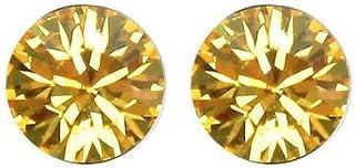 Robella Swarovski Elements Earring Encrusted With White Swarovski Crystals ROB-070