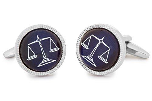 SoloGemelos - Gemelos Balanza Justicia - Azul - Hombres - Talla Unica