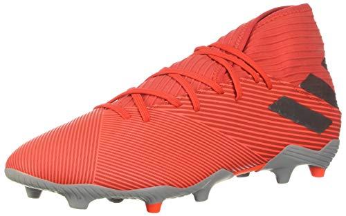 adidas Men's Nemeziz 19.3 Firm Ground Soccer Shoe, Active Red/Silver Metallic/Solar Red, 11 M US