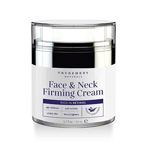 Neck Firming Cream | Moisturizer Retinol Cream For Face, Decollete & Chest - Collagen Peptides, Hyaluronic Acid & Vitamin C for Turkey Neck Tightener, Fine Lines, Wrinkles, Loose & Sagging - 1.7 Oz