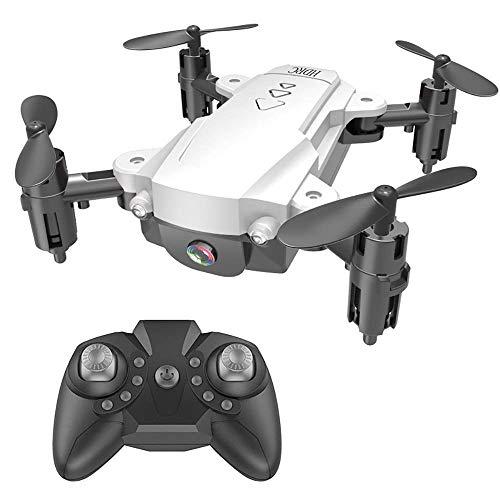 Mini-UAV Folding Remote Control Plane 4K HD LuchtFotografie vierassige Vliegtuigen, Real-Time Transmission bij Vaste Hoogte, Headless Mode, APP Control, 360 deg;Omdraaien ZHANGKANG (Color : White)