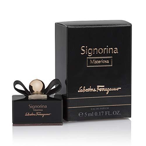NUPTALIA Perfumes miniaturas Originales de Mujer como Detalles para Bodas Ferragamo Signorina Misteriosa Eau de Parfum 5 ml. para Regalar