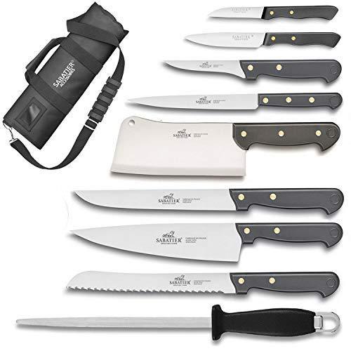 Sabatier Cuisine d'jourhui - Maletín de cocina con 8 cuchillos de cocina...