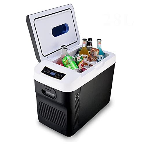 ADGH Refrigerador Doméstico De Coche De 28L 12/24 V, Mini Refrigeradores, Congelador, Calentador De 110/220 V, Refrigeración Y Calentamiento, Refrigerador Pinic para El Hogar del Coche
