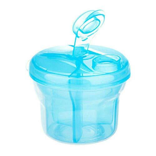 ADWA dispensador de fórmula rotativa, dispensadores de alimentos, compartimento giratorio fórmula dispensador de comida rápida multiusos leche en polvo rejilla portátil de fideos de arroz (3PC)-Azul