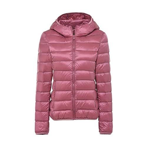 YRFHQB Winter vrouwen Ultralicht donsjack vrouwen lange mouwen jas warme capuchon mantel parka vrouwelijke outwear plus maat