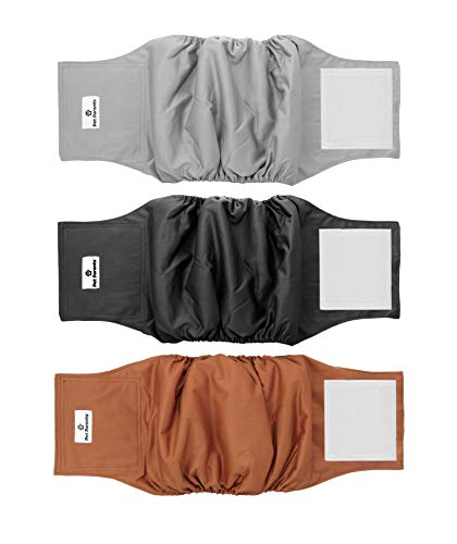 Pet Parents Premium Washable Dog Belly Bands (3pack) of Male Dog Diapers, Dog Marking Male Dog Wraps, WickQuick Belly Band for Male Dogs Color: Natural, Size: Small Dog Belly Band