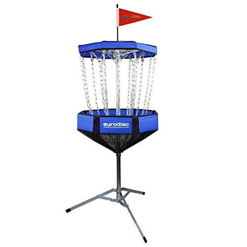Eurodisc CHAINWALKER BLAU Frisbee Disc Golf Korb Ziel tragbar mobil ähnlich DGA Mach-Lite, inkl. 1x Putter leicht aufzubauen