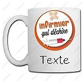 Linyatingoshop Mug Infirmier Qui Déchire + Personnalisation - Cadeau Original - Noël, Anniversaire, Remerciement, Cadeaux