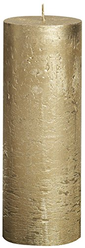 BOLSIUS RUSTIK Metallic Stumpenkerzen 190 x 68 mm gold