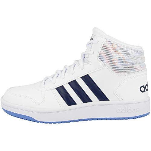 adidas Unisex-Erwachsene Hoops Mid 2.0 K Basketballschuhe, Mehrfarbig (Ftwbla/Azuosc/Azurea 000), 39 1/3 EU