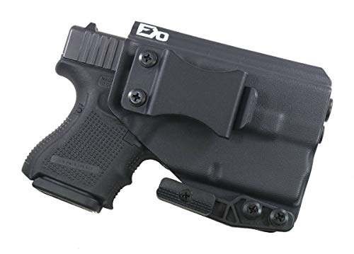 FDO Industries (Formerly Fierce Defender IWB Kydex Holster Compatible with Glock 26 w/ TLR6 -The Paladin Series -Made in USA- (Black)