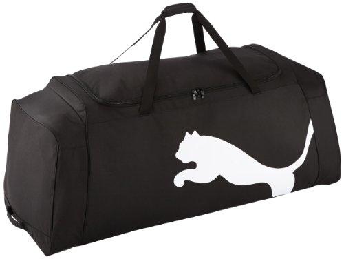 PUMA Tasche Team Wheel Bag Sporttasche, Black-White, 124 x 50 x 43 cm