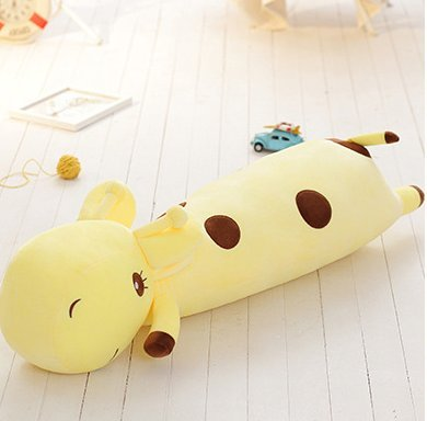 Stuffed Short Plush Ggiraffe Large Pillow Cushions Nap Doll Home Essential (40cm Tall, Yellow)
