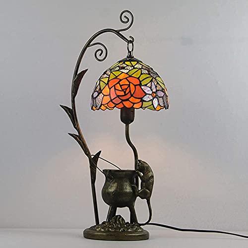 HKAFD Lampada da Tavolo in Stile Tiffany, Piccola Lampada da Arrampicata per Mouse Lampada da Comoda per Lampada da Comoda per Camera da Letto per Camera da Letto per Camera da Letto dell'hotel