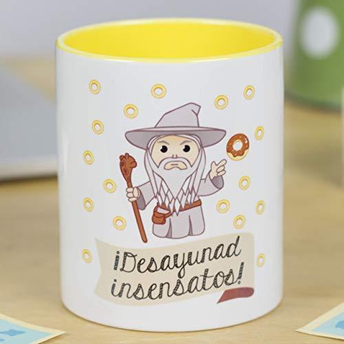 La Mente es Maravillosa - Taza con Frase y dibujo. Regalo original y gracioso (¡Desayunad insensatos!) Taza Diseño Gandalf