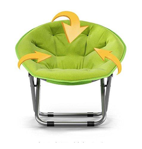 GAOJIAN Balcon Chaise de Lune Salon de ménage Chaise de Soleil Chaise Longue de Patio Chaises Longues Chaise Ronde, a