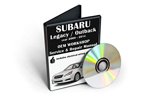 Subaru Legacy / Outback (5th gen.) Service & Repair Manual [CD-ROM] (fits year: 2009, 2010, 2011, 2012, 2013, 2014)